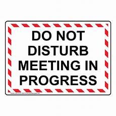 Training In Progress Sign Do Not Disturb Meeting In Progress Sign Nhe 37315 Wrstr