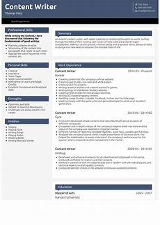 Resumes For Writers Content Writer Resume Samples 1 Resource For Templates