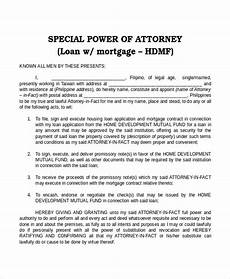 Special Power Of Attorney Sample 19 Power Of Attorney Templates Free Sample Example