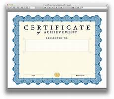 Blank Certificates Templates Certificate Template For Pages And Pdf Mactemplates Com