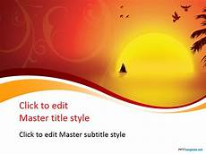Templets For Ppt Free Sunset Ppt Template