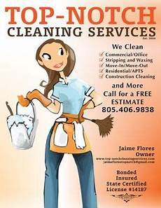 Housekeeping Business Top Notch Cleaning Services Business Flyer Design