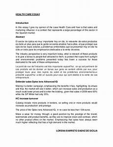 Essays About Health Health Care Essay
