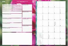 Week Month Planner A5 Ultimate Diary Planner 2018 Nature Ladies That Plan