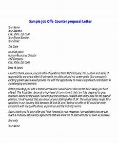 How To Make A Counter Offer Free 6 Sample Proposal Offer Letter Templates In Pdf Ms