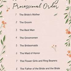 Wedding Party Processional The Ultimate Guide To Wedding Processional Order