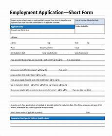 Sample Employment Application Pdf Free 15 Sample Employment Application Forms In Pdf Ms