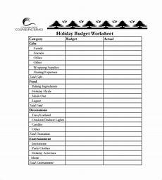 Holiday Budget Template Budget Spreadsheet Template 12 Free Word Excel Pdf