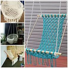 diy hanging macrame chair tutorials diy 4