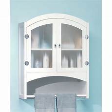 white wood bathroom linen wall cabinet with towel rack ebay