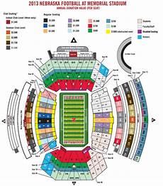 Nebraska Cornhuskers Memorial Stadium Seating Chart Nebraska Football Season Ticket Minimum Donation Levels
