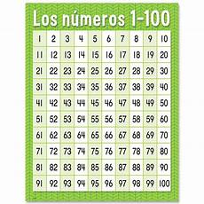 Spanish Number Chart Los N 250 Meros 1 100 Spanish Chart Creative Teaching Press