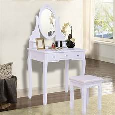 giantex white vanity jewelry wooden makeup dressing table