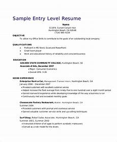 Resume Entry Level Objective Examples Free 5 Retail Resume Objective Templates In Ms Word Pdf