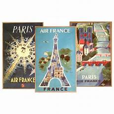 Handbill Size Air France 1940s Handbill Size Travel Posters Set Of 3