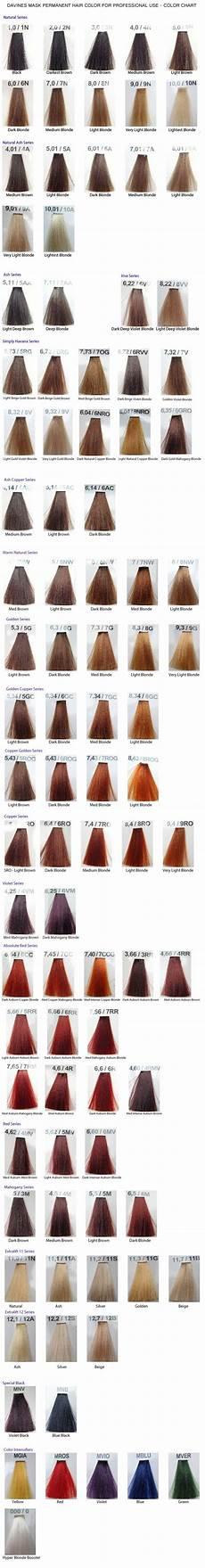 Davines Mask Colour Chart Davines Mask Color Chart Hair Color Chart Hair Color