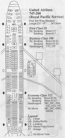 747 400 Seating Chart United Airlines 747 200 Archives Frequently Flying