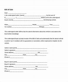 Sale As Is Form For Car Bill Of Sale Form 18 Free Word Pdf Documents Download