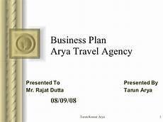 Sample Travel Agency Business Plan Business Plan For Arya Travel Agency