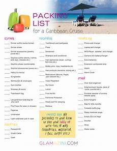 Printable Packing List For Cruise How To Write A Packing List For A Caribbean Cruise