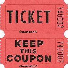 Images Of Tickets For A Raffle Red Double Roll Raffle Tickets 2000ct Party City