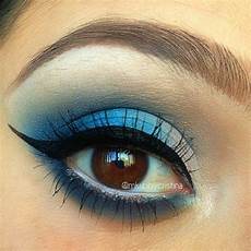 blue makeup look sugarpill sweetheart palette the
