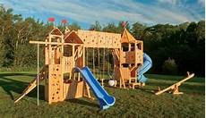 Playset Designs Frolic 799 Wooden Swing Set And Outdoor Playset