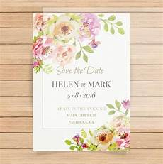 simple linen paper wedding invitation floral design with