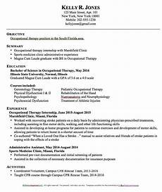 Cota Resume Cota L Free Resume Samples Occupational Therapy Resume