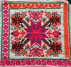mexican embroidery up of embroidery on a