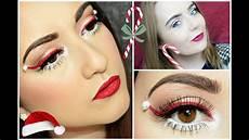 makeup christmas makeup santa hat collabmas w gemma louise
