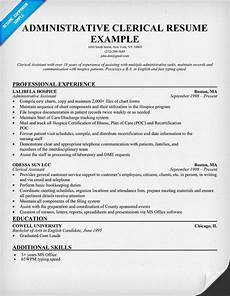 Clerical Resume Template Administrative Clerical Resume Resumecompanion Com