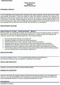 Sample Retail Cv Retail Assistant Cv Example Lettercv Com