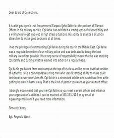 Letter Of Recommendation For Police Officer Free 7 Sample Military Recommendation Letter Samples