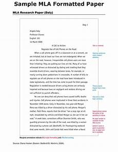 Research Paper Format Template Mla Research Paper Template Sample Papers In Mla Style