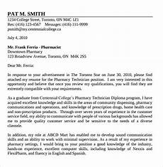 Letter Of Recommendation It Technician 14 Pharmacy Technician Letters Samples Examples