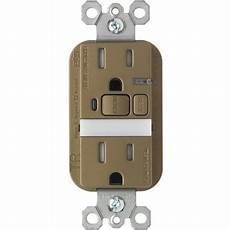 Pass And Seymour Night Light Receptacle Pass And Seymour 15a Night Light Gfci Receptacle Nickel