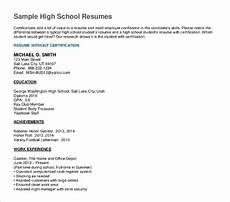 Sample Resumes For High School Graduates 10 High School Graduate Resume Templates Pdf Doc