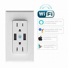 Moeshousewifi Smart Wall Socket Outlet Glass by Geekbes Wifi Smart Wall Socket White Us