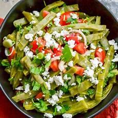 receta plat authentic mexican cactus leaves salad ensalada de nopales