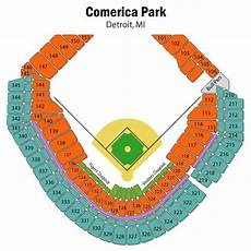 Detroit Tigers Seating Chart Detroit Tigers Seating Chart With Rows Comerica Park