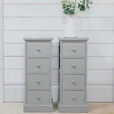 set of 2 grey bed side tables in 2020 bed