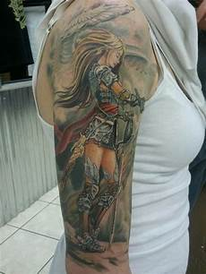 Female Angel Designs 27 Warrior Angel Tattoos Designs Images And Ideas