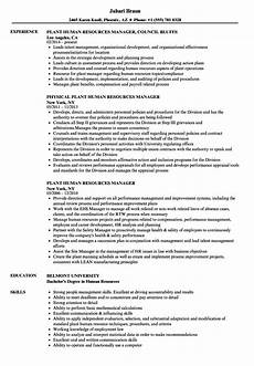 Human Resources Manager Resume Examples Human Resources Manager Resume Examples Free Resume