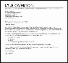 Auto Mechanic Cover Letter Automotive Technician Cover Letter Sample Cover Letter