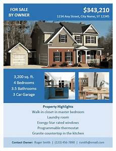 Home For Sale By Owner Flyer Fsbo Flyer Template By Vertex42 Com In 2019 Sale Flyer