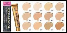 House Foundation Color Chart Dermacol Make Up Cover Foundation Waterproof