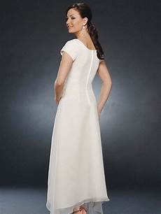sleeve chiffon dress izumi a line princess scoop ankle length sleeves ruched