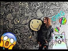 Trippy Drawings Huge Trippy Wall Drawing Timelapse Youtube