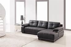 espresso bonded leather contemporary sectional sofa